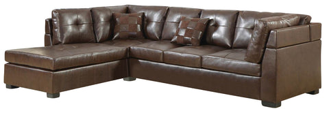Darie Contemporary Sectional - Brown