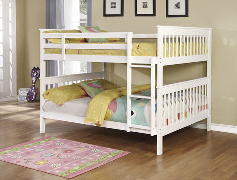 Chapman White Full/Full Bunk Bed