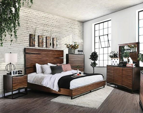Fulton Rustic Elements 4 Piece Bedroom Set