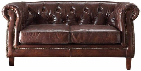 Vintage Brown Top Grain leather Sofa