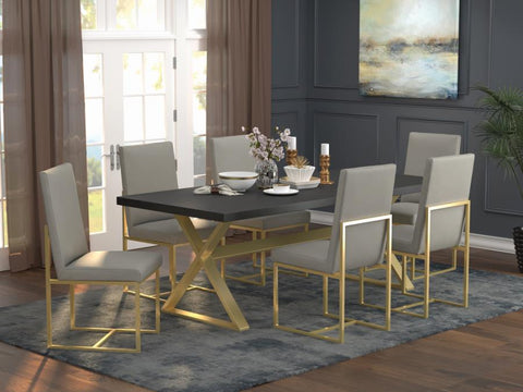 Conway Glam Dining Table and Chairs