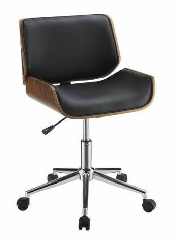 Contemporary Office Chair, Black