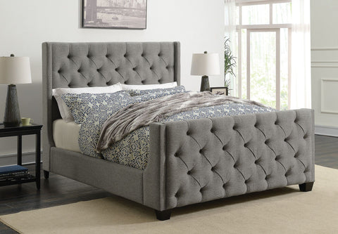 Palma Upholstered Bed - Grey