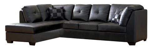 Darie Contemporary Sectional - Black
