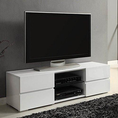 contemporary style 4 Drawer White Tv Stand