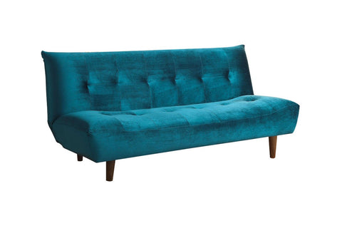 Teal Velvet Futon Sofa Bed