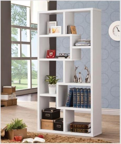 Cubed Rectangular Bookcase, White