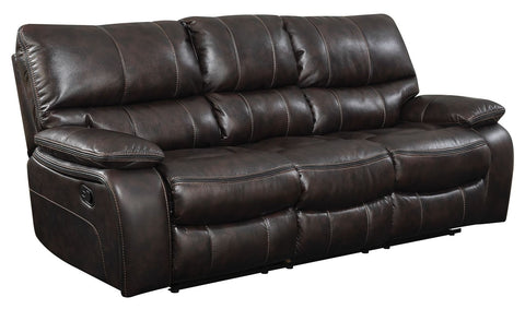 Comfy Reclining Sofa - Two-tone Dark Brown