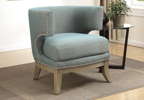 Costa Barrel Back Accent Chair - Blue
