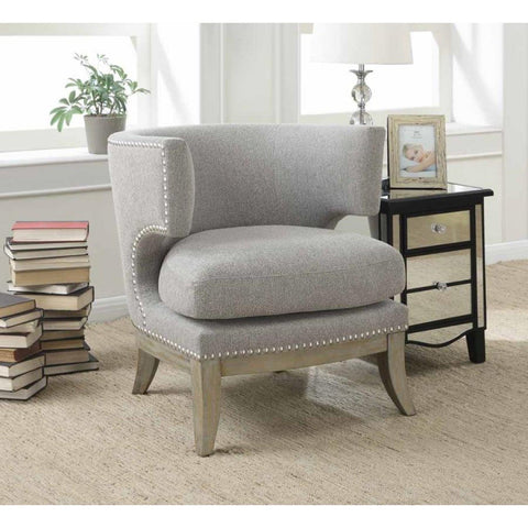 Costa Barrel Back Accent Chair - Grey