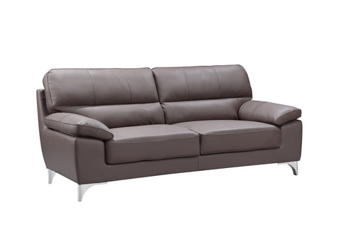Contemporary Brown Leather Gel Sofa