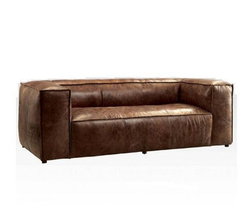 Retro Brown Top Grain leather Sofa
