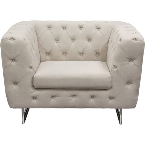 Catalina Sand Tufted Tub Chair