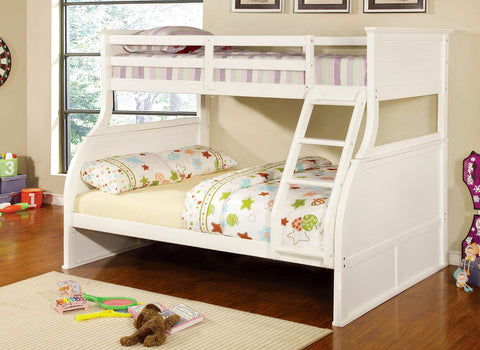 Canova White Finish Twin/full Bunk Bed