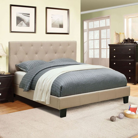 Drexel Upholstered Bed, Ivory
