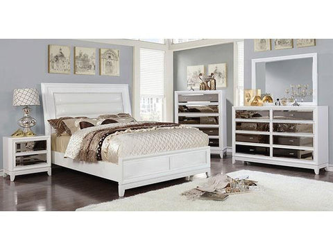 Golva 4 Pc Bedroom Set, White