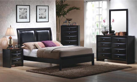 Briana Black 4 PC Bedroom Set