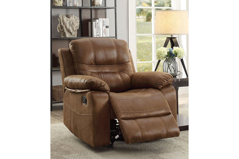 Tristan Brown Leatherette Manual Recliner Chair