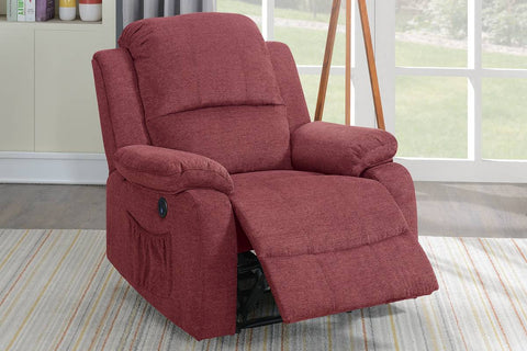 F86029 Red power recliner