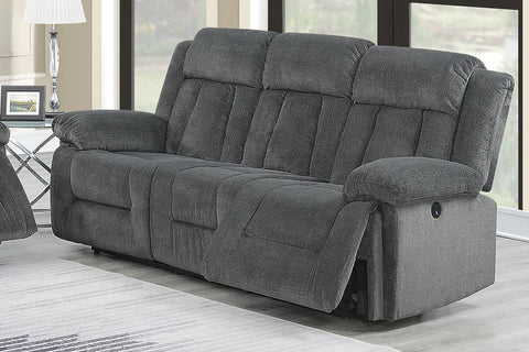 Ventura Grey Power Reclining Sofa