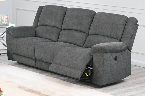 Clarity Power Reclining Sofa - Slate