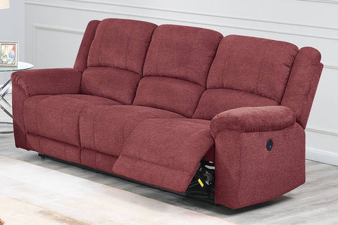 Clarity Power Reclining Sofa - Paprika Red