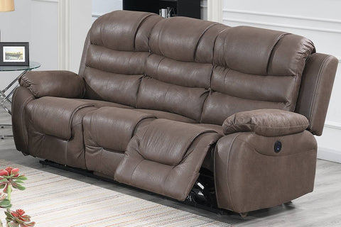 Dark Coffee Power Reclining Sofa