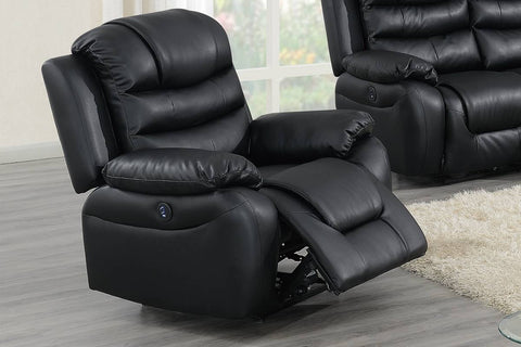 Black Breathable leather  Power Reclining Chair