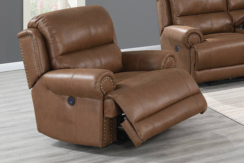 Jade Power Reclining Chair - Brown