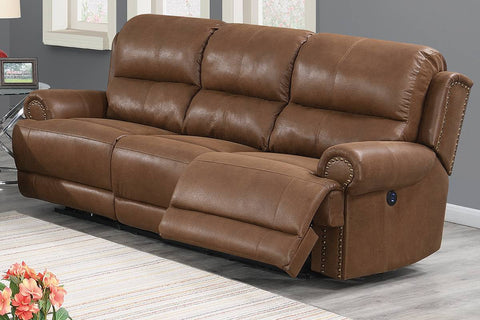 Jade Power Reclining Sofa - Brown