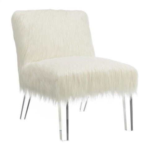 Faux Fur Accent Chair