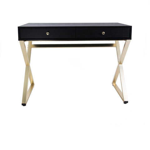 Pacha Black Brass Vanity Table