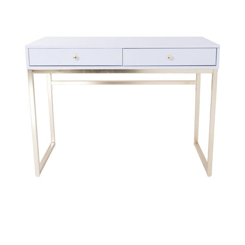 Sacha White Brass Vanity Table