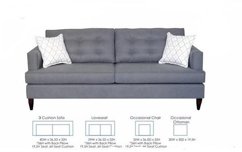Miles Sofa , Choose Your Fabric