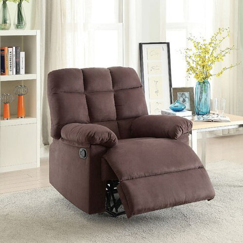 Plush Recliner Chair - Brown