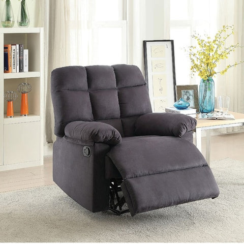 Plush Recliner Chair - Charcoal Grey