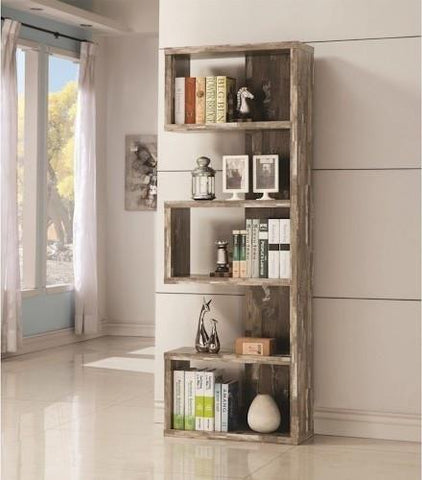 Distressed Salvaged Cabin Bookcase
