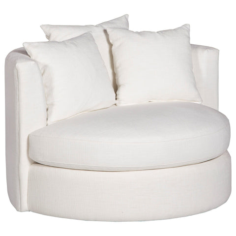Contemporary Round Swivel Chair, (Choose Your Fabric & Color)