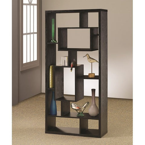 Contemporary Modern Bookcase, In Black