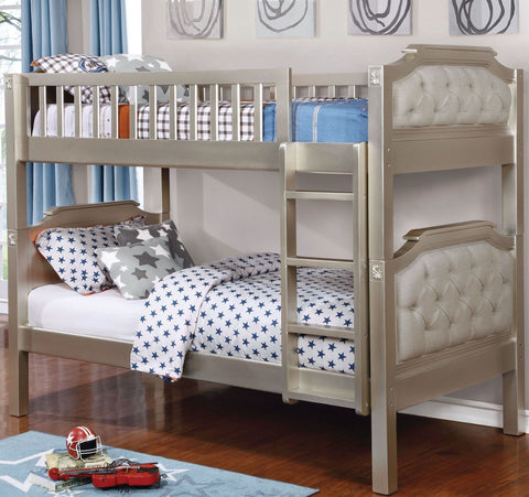 Champagne Finish Twin/Twin Bunk Bed