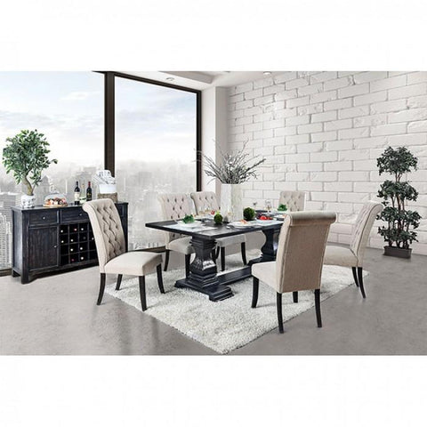 Nerissa Dining Set, Antique Black