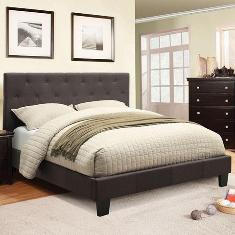 Drexel Upholstered Bed, Gray