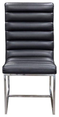 Bardot Black Dining Chair w/ Stainless Steel Frame