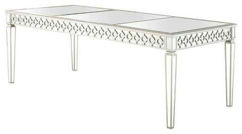 Mirrored Rectangular Dining Table