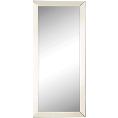 Silver Beveled Floor Mirror