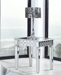 Sophia Silver Mirrored End Table