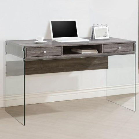 Contemporary Desk with transparent glass sides