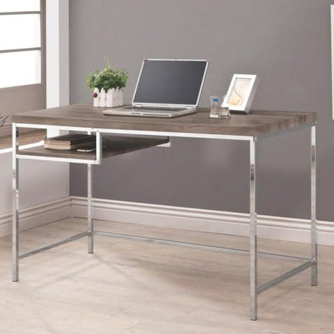 Contemporary Grey & Metal Desk