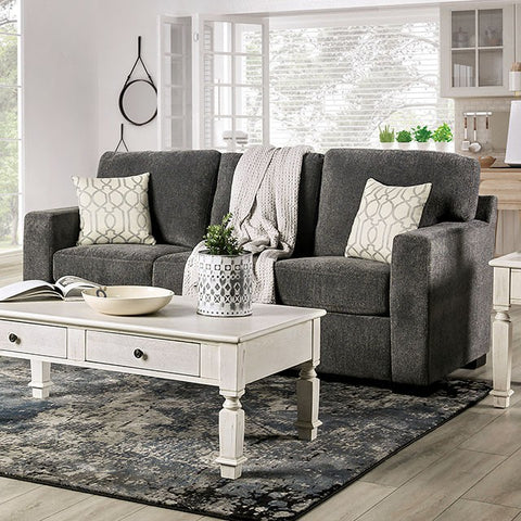 Tammi Transitional Fabric Sofa -Grey