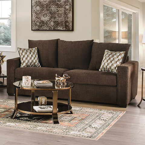 Tammi Transitional Fabric Sofa -Brown